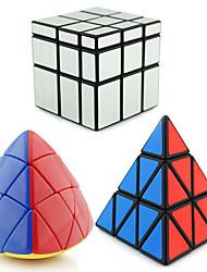 abordables -Cubo de rubik Tetaedro Pyramid Alienígena Cubo de espejo 3*3*3 Cubo velocidad suave Cubos Mágicos rompecabezas del cubo Nivel profesional