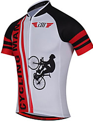 Maillot de Cyclisme Homme Manches Courtes Vélo Maillot Hauts/Top Séchage rapide Design Anatomique Résistant aux ultraviolets Zip frontal