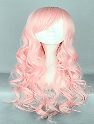 Harajuku Style 70cm  Long Heat Resistant Curly  Lolita Pink Cosplay Wigs