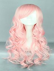 abordables -Pelucas sintéticas / Pelucas de Broma Rizado Rosa Pelo sintético Rosa Peluca Mujer Sin Tapa