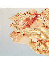 Jigsaw Puzzles Wooden Puzzles Building Blocks DIY Toys Chinese Architecture 1 Wood Ivory Puzzle Toy