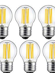 5w e26 / e27 led lampadine g45 6 cob 550lm bianco caldo 2700k decorativo ac 220-240v