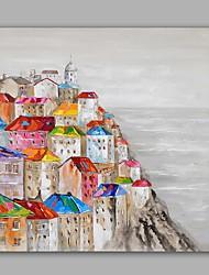 economico -Dipinta a mano Astratto / Paesaggi Dipinti ad olio,Modern / Classico Un Pannello Tela Hang-Dipinto ad olio For Decorazioni per la casa