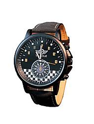 abordables -Hombre Reloj de Pulsera Gran venta / / Piel Banda Casual / Moda / Reloj de Vestir Negro / Marrón
