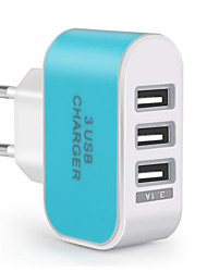 cheap -Portable Charger USB Charger EU Plug Multi Ports 3 USB Ports 3.1 A