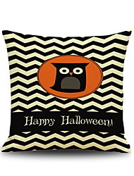 cheap -Halloween Night Owl Square Linen  Decorative Throw Pillow Case Kawaii Cushion Cover