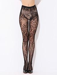 женская ночная одежда& loungewear чулочно-носочные изделия тонкие колготки, нейлоновая печать сексуальная черная