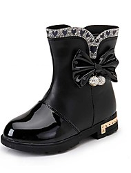 cheap -Girl's Boots Spring / Fall / Winter Snow Boots / Motorcycle Boots / Bootie / Comfort Leather Outdoor / Casual Zipper