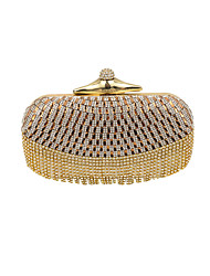 Damen Taschen Ganzjährig Spezielle Werkstoff Abendtasche Crystal / Strass für Hochzeit Veranstaltung / Fest Formal Schwarz Silber Golden