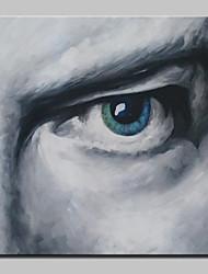 baratos -Pintura a Óleo Pintados à mão - Pessoas / Retratos Abstratos Modern Incluir moldura interna