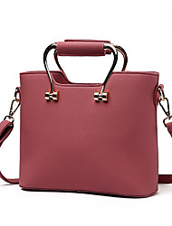 cheap -Women's Bags PU Shoulder Bag / Zipper Rivet Dark Pink / Dark Gray / Khaki