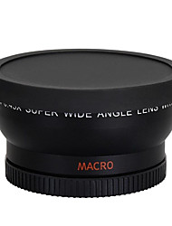 58mm 0.45x larg obiectiv macro lentilă cu unghi de tun 350D / 400D / 450D / 500D / 1000D / 550D / 600D / 1100D aparat de fotografiat DSLR
