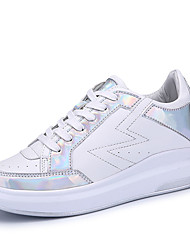Women's Sneakers Spring / Summer / Fall / Winter /  PU Casual  Sequin / Lace-up Black / White  / Sneaker