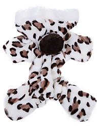 economico -Gatto Cane Felpe con cappuccio Tuta Pigiami Abbigliamento per cani Traspirante Romantico Casual Leopardo Marrone Rosa Costume Per animali