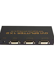 1X2 DVI SPLITTER 1*2 with Dual Link DVI-D 4Kx2K High Quality 1 In 2 Out Video Splitter Resolution up to 3840x2160@30Hz HDCP EDID 4Layer PCBA