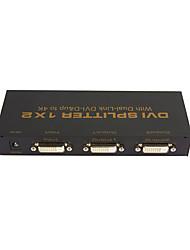 1x2 dvi splitter 1 * 2 avec dvi-d 4Kx2K de haute qualité 1 liaison double en 2 sur la résolution vidéo splitter jusqu'à 3840x2160 @ 30Hz
