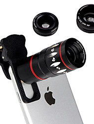 cheap -4 in 1 Universal Clamp Camera Lens with clip(10x Telephoto Lens/ Fisheye Lens/ 0.67x Wide Angle Lens/ 10xMacro Lens) for iPhone 6 6S Plus 5S