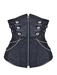 cheap -Shaperdiva Women Gothic Steel Boned Waist Trainer Steampunk Underbust Corset