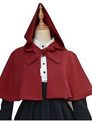 Coat Sweet Lolita Lolita Cosplay Lolita Dress Black White Red Solid Sleeveless Short Length Dress For Woolen