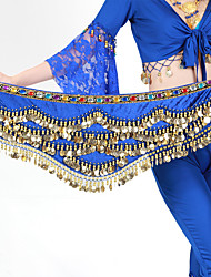 cheap -Belly Dance Hip Scarves Women's Training Polyester Beading / Gold Coins 1 Piece