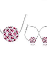 Da donna Set di gioielli Cristallo Di tendenza Collane Orecchini Per Quotidiano Regali di nozze