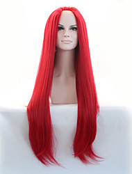 Sylvia Synthetic Lace front Wig Red Heat Resistant Long Straight Synthetic Wigs
