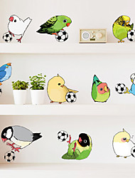 cheap -Creative 11 Parrot Birds DIY Wall Stickers Fashion PVC Living Room Bedroom Wall Decals