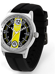 abordables -Hombre Reloj Deportivo / Reloj de Pulsera Gran venta / / Silicona Banda Casual / Moda Negro