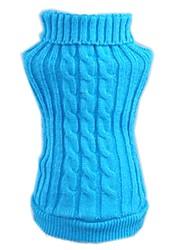 Gatto Cane Maglioni Abbigliamento per cani Fibre acriliche Inverno Casual Solidi Rosso Blu Per animali domestici