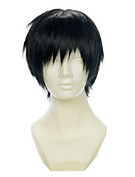 abordables -Pelo sintético pelucas Corte Recto Corte Pixie Con flequillo Peluca de carnaval Peluca de Halloween Peluca de cosplay Corta Negro