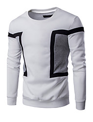 cheap -Men's Daily Casual Active Sweatshirt Color Block Round Neck Micro-elastic Cotton Long Sleeve Spring Fall
