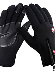 Unisex Black Full Finger Ski Gloves Touch screen Anti-slip Waterproof Wind Protection Gloves