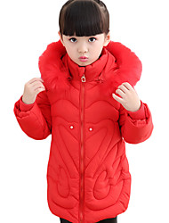 cheap -Girl's Daily Solid Down & Cotton Padded