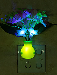 cheap -LED lights Cherry  Light-controlled 7 colours change Colorful Sensor LED Night light Lamp Room Decor