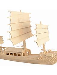 Недорогие -Деревянные пазлы Корабль профессиональный уровень Дерево 1 pcs В китайском стиле Мальчики Девочки Игрушки Подарок