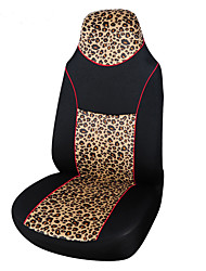AUTOYOUTH Leopard Animal Print Integrated 1Pcs High Back Bucket Seat Cover Universal Fit Most Car Seat Cover