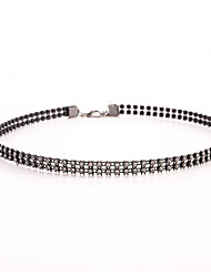cheap -Women's Crystal Tennis Chain Choker Necklace / Tattoo Choker - Crystal, Imitation Diamond Love Tattoo Style Black Necklace For Wedding, Party, Daily
