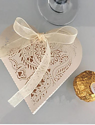 cheap -Heart-shaped Pearl Paper Favor Holder With Favor Boxes-10 Wedding Favors