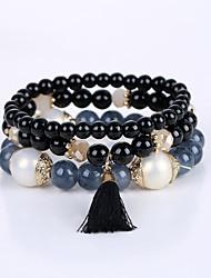 cheap -Men's Women's Bracelet Strand Bracelet Multi Layer Beaded Acrylic Alloy Jewelry Wedding Congratulations Graduation Business Gift Casual