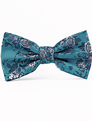 cheap -Men's Vintage Party Work Casual Polyester Bow Tie Print