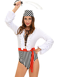 Pirate Career Costumes Cosplay Costumes Party Costume Masquerade Female Halloween Carnival Festival / Holiday Halloween Costumes Striped