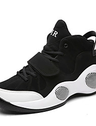 cheap -Men's Shoes PU Spring Fall Comfort Athletic Shoes Basketball Shoes Lace-up for Casual White Black/Red Black/White