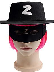 Недорогие -1шт Халоуин декора новизны подарка Террористические украшения косплей шляпа и маска для глаз