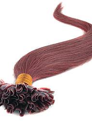 16-24inches keratine 0,5 g virgem Natil extensões de cabelo de ponta u ponta extensões de cabelo vara de fusão ponta lig pre remy extensão