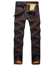 cheap -Thicked Fleece Jeans Men Casual Pants Mens Jeans Gradient Color LIght  Quality Cotton Denim Jeans For Men