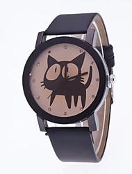 cheap -Top Brand Women Men Watch Quartz Casual Watch Unisex PU Leather Women Dress Watch Relogios