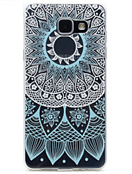 cheap -for Samsung Galaxy A310 A510 Blue Lace Pattern TPU High Purity Translucent Openwork Soft Phone Case