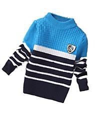 Maglione e cardigan Maschile Casual Monocolore Cashmere / Lana Inverno / Primavera / Autunno Blu / Rosso / Giallo
