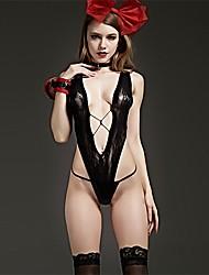 Ženy Ultra sexy Noční prádlo,Sexy Jednobarevné-Střední Nylon Černá