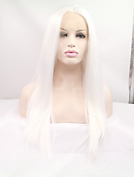 Sylvia Synthetic Lace front Wig Silver Heat Resistant Long Straight Synthetic Wigs
